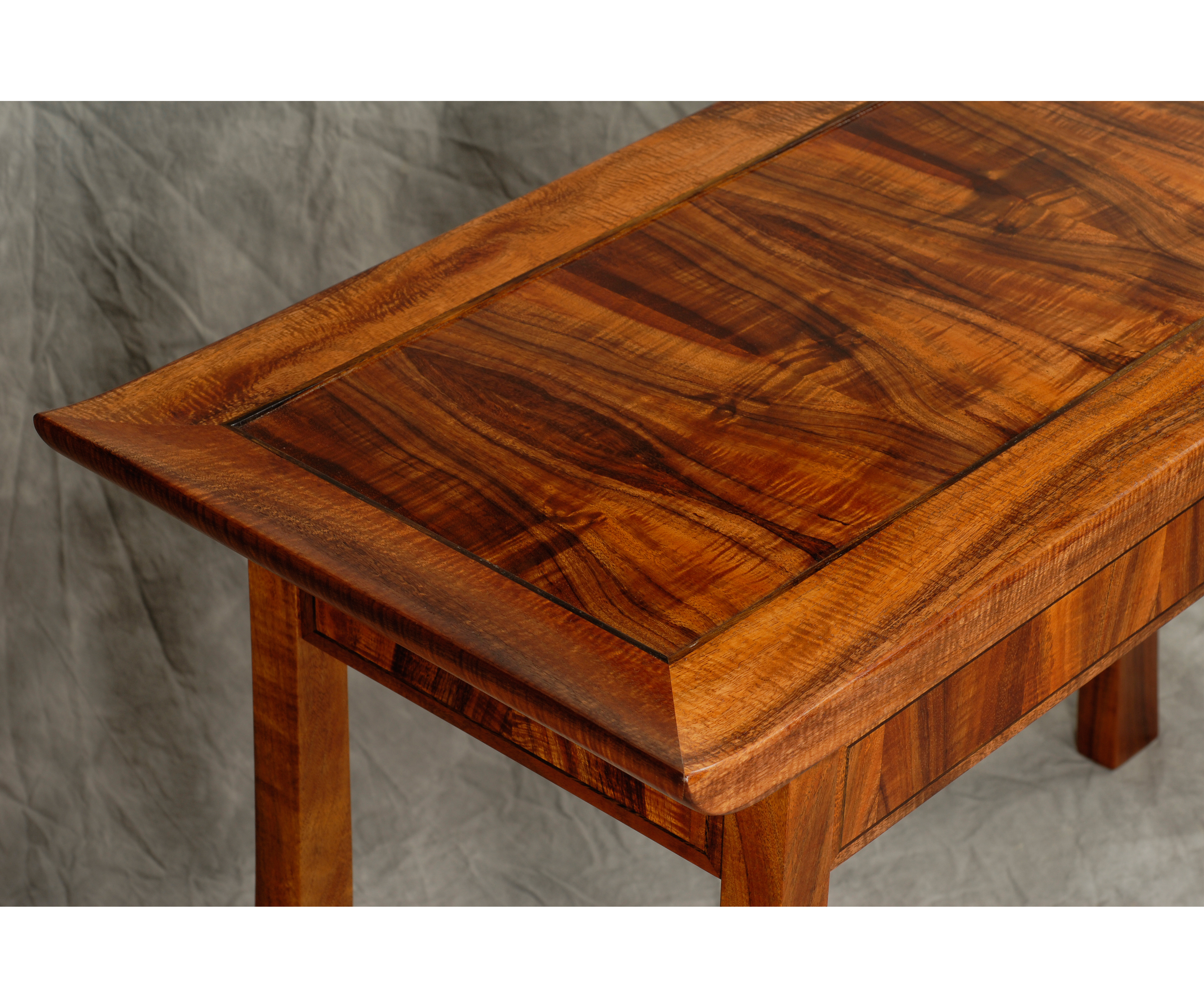 Koa and Blown Glass Entryway Table