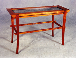 Koa and Marble Entryway Table