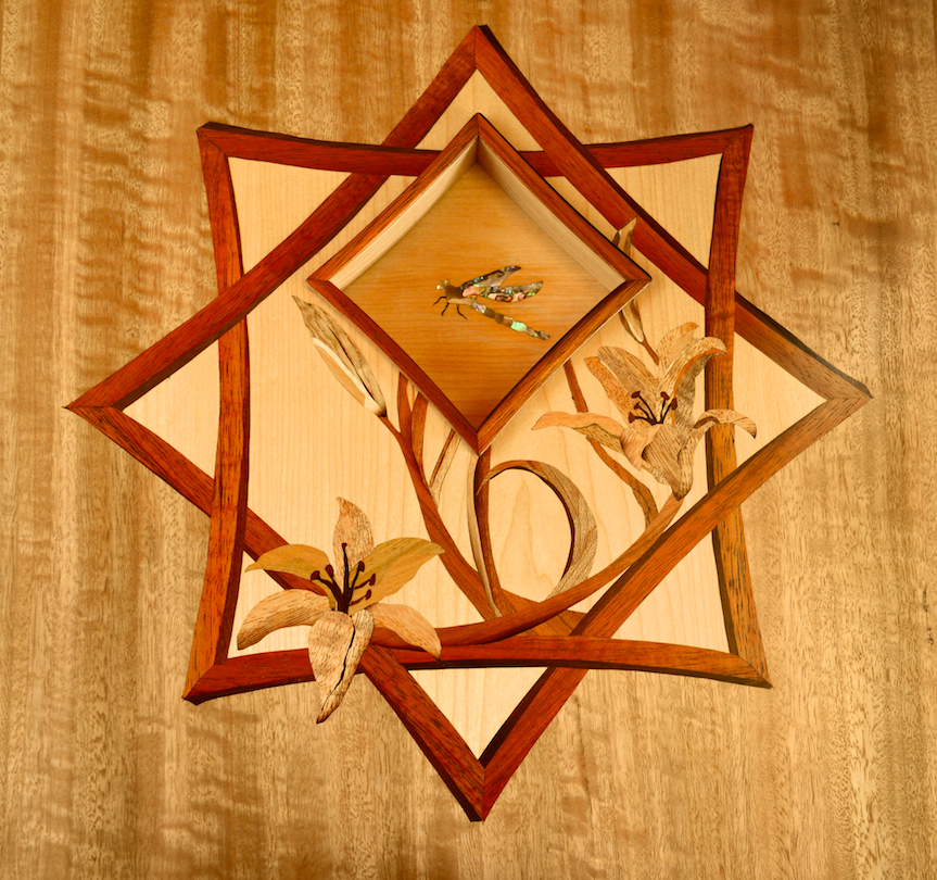 Dragonfly Foyer Table Marquetry