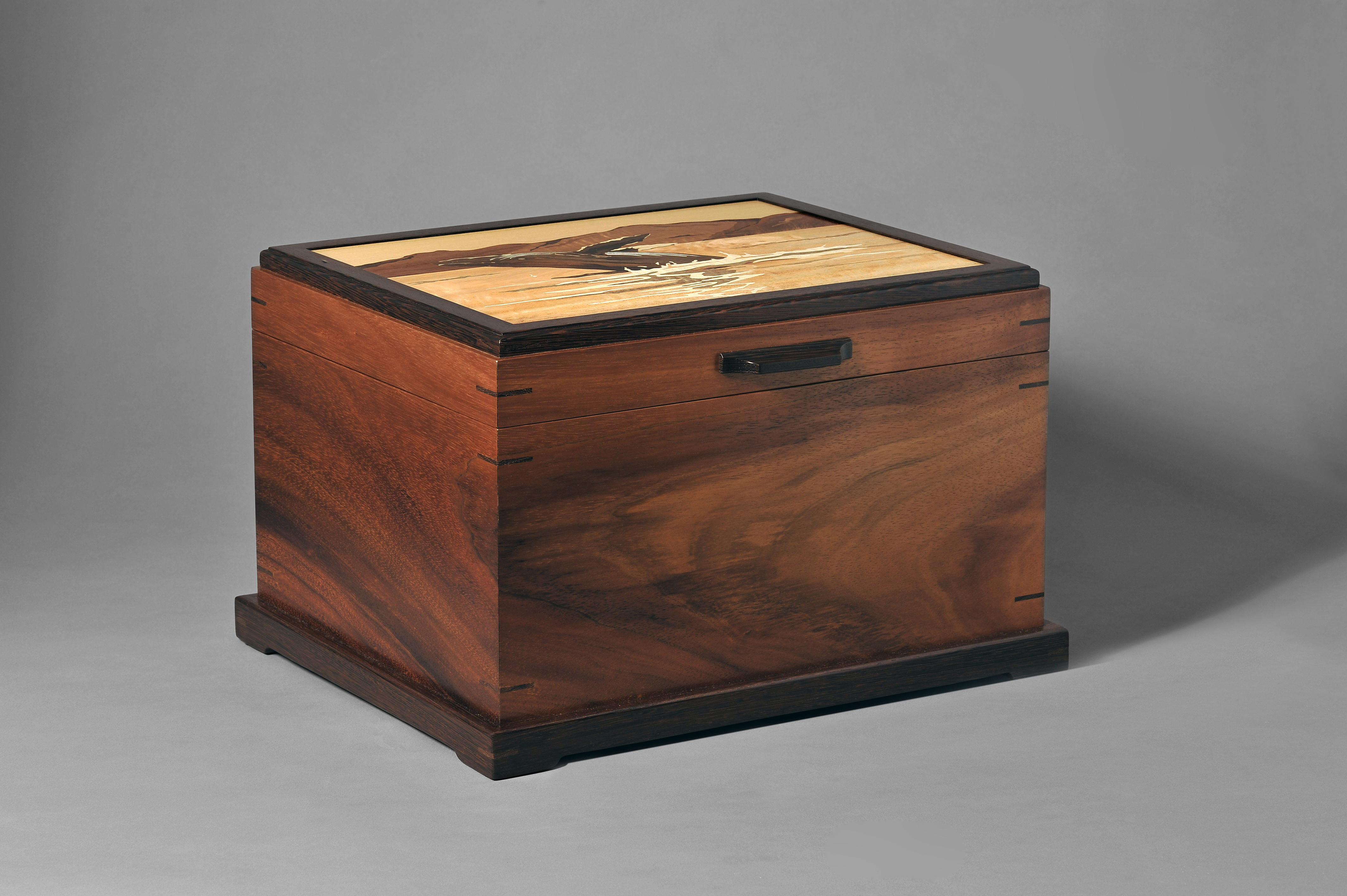 Koa Box with Humback Whale