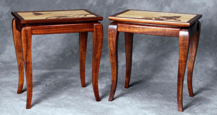 Koa Butterfly Side Tables