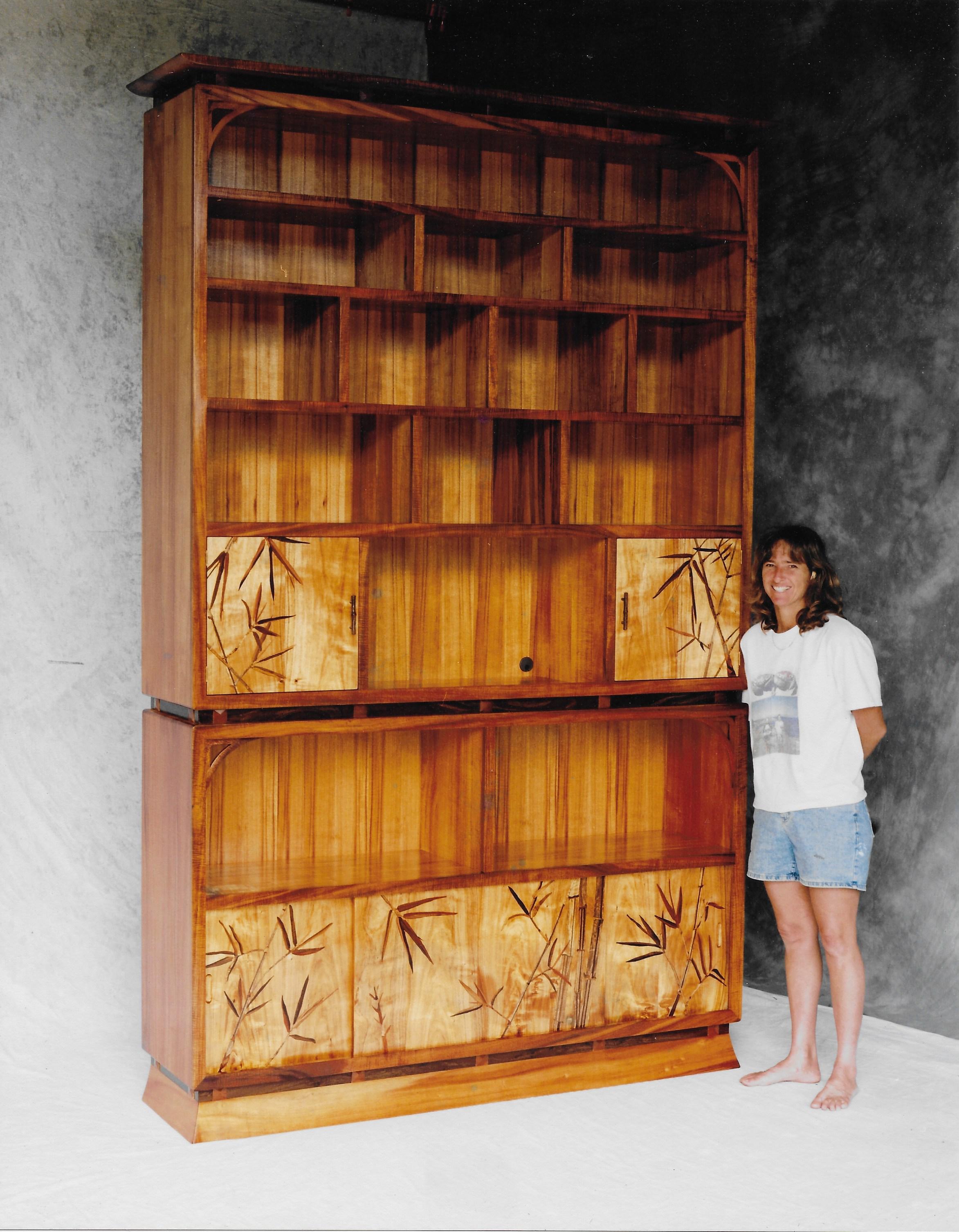 Koa Bookcase