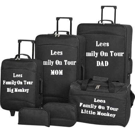 personalised suitcase stickers