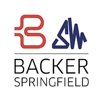 Backer Springfield logo with white squar