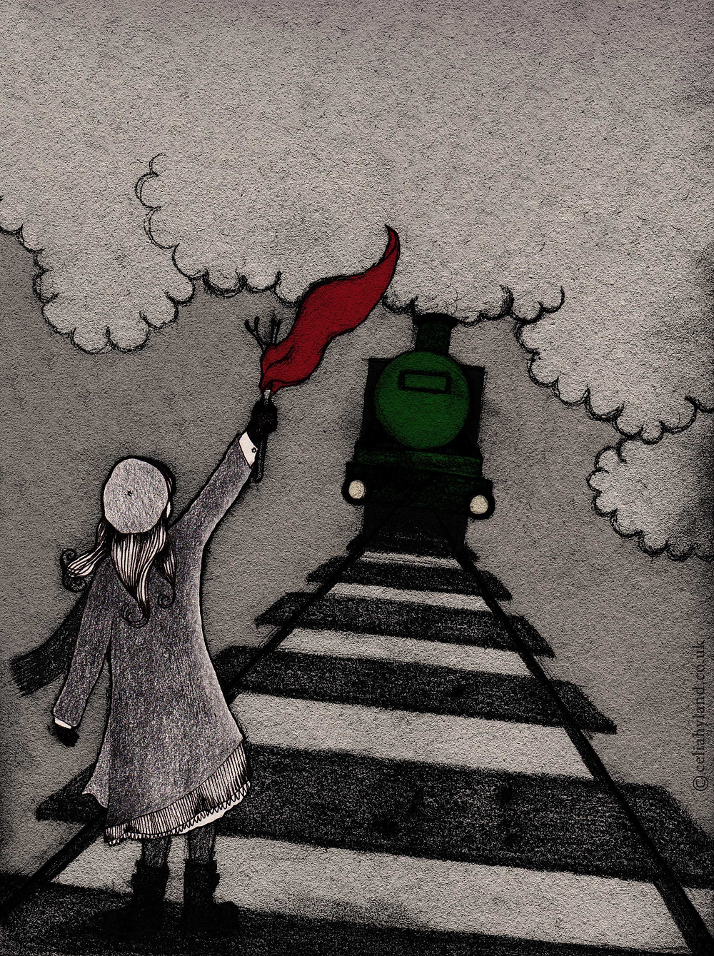 The Railway Children Illustration by Celia Hyland