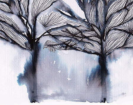 Winter Trees - 6x4 greeting card