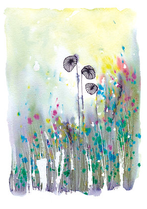 Wildflowers - A5 greeting card