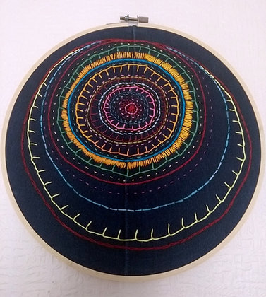 Embroidered Hoop (27cm)