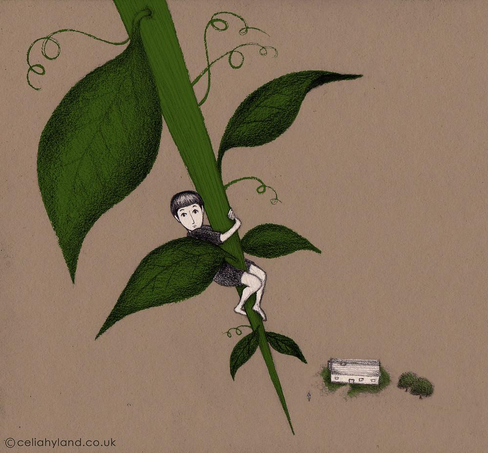 Jack climbing the beanstalk by Celia Hyland