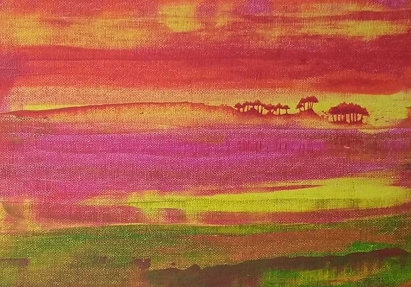 African Sunset - A5 greeting card