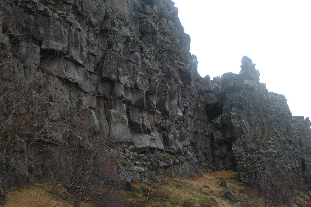 Craggy lava rocks in Iceland