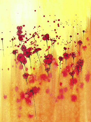 Poppy Field - A5 greeting card