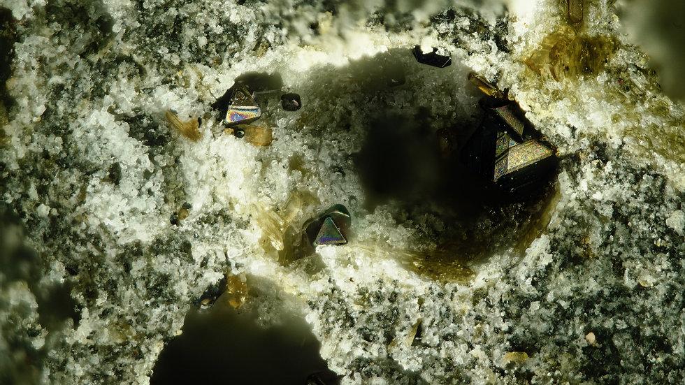 Magnetite hyperstène - Roc de Courlande - France