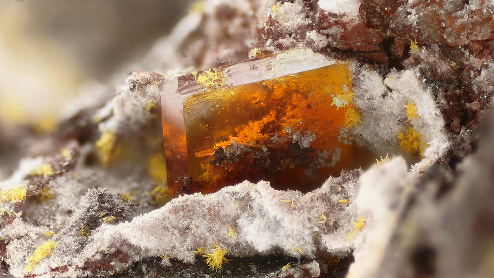 Wulfenite - Rowley - USA
