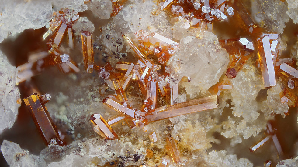 Vanadinite Wulfenite  - Shelby Mine - USA