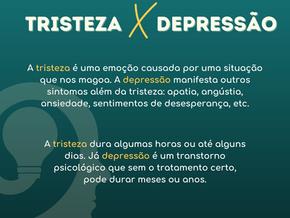 Tristeza x Depressão