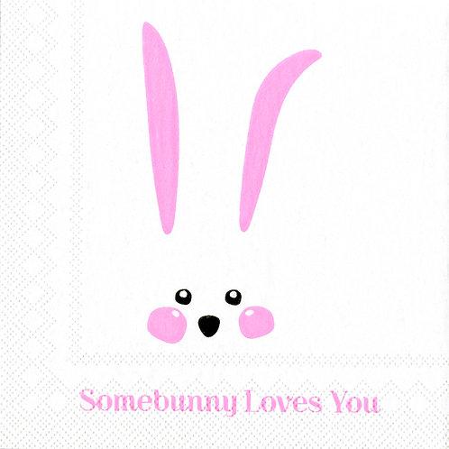 Cocktailserviette «Somebunny Loves You»