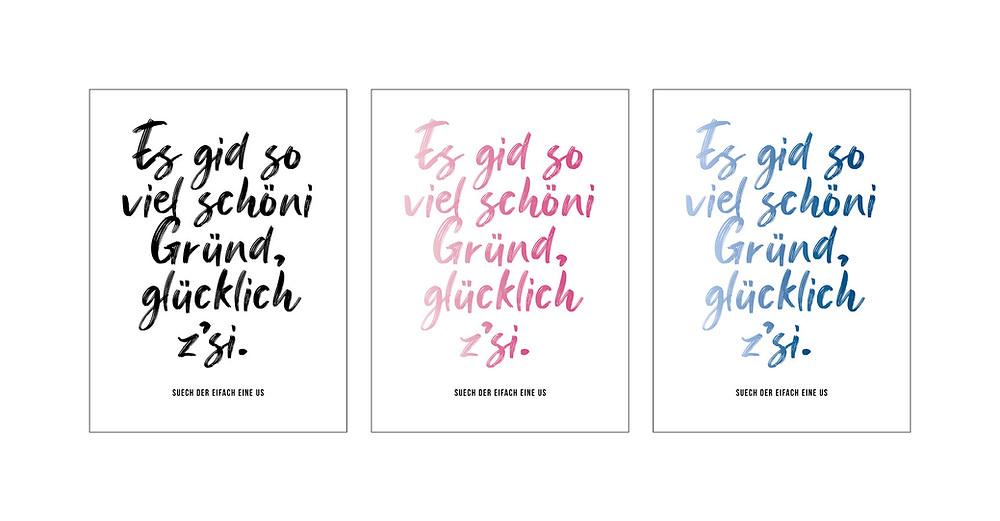 Poster «Schöni Gründ», gestaltet und gedruckt in der Schweiz