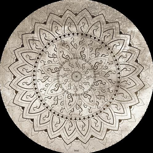 Papiertischsets rund Orientalische Sonne FSC®-Mix