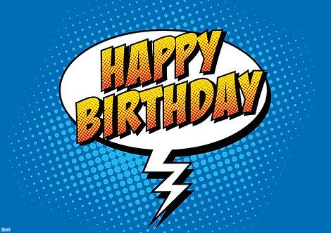 Papiertischsets Happy Birthday FSC®-Mix