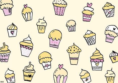 Papiertischsets Cupcake mit Vanilleduft FSC®-Mix