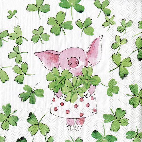 Serviette Piggy Luck