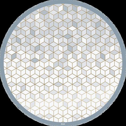 Papiertischsets rund Circle of Cubes FSC®-Mix