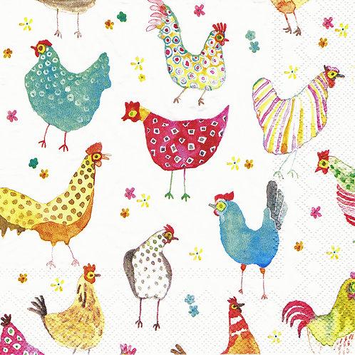 Serviette Jolly Hens