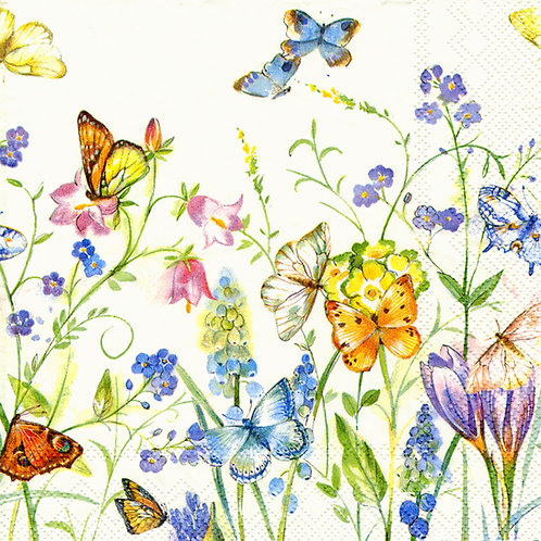 Serviette Butterflies and Blossoms