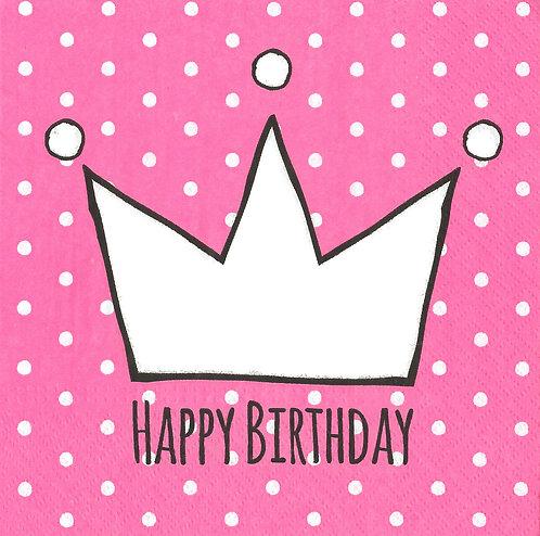 Serviette Happy Birthday