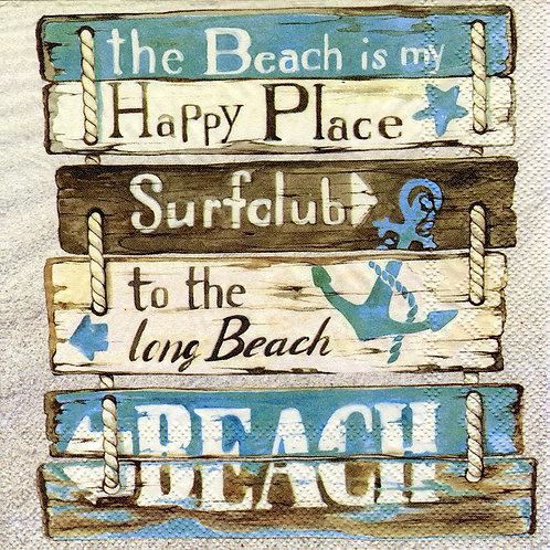 Serviette Happy at the Beach
