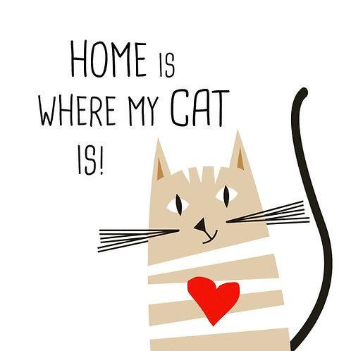Serviette Home Cat