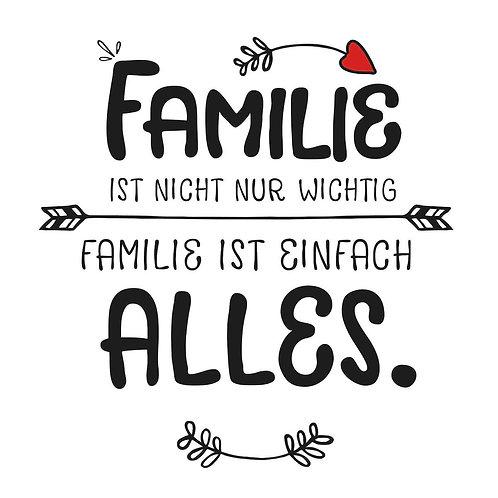 Serviette Familie