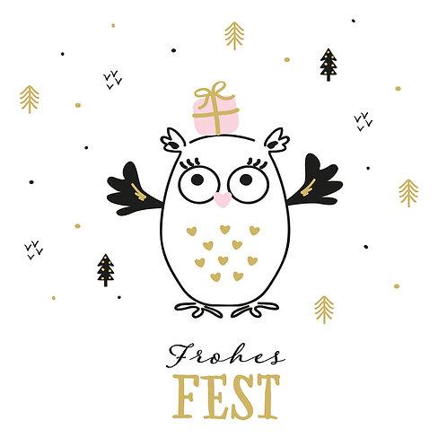 Serviette Frohes Fest