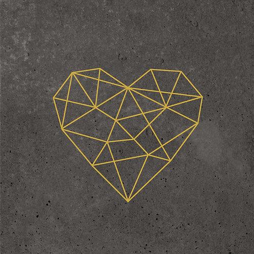 Serviette Geometric Heart Cement