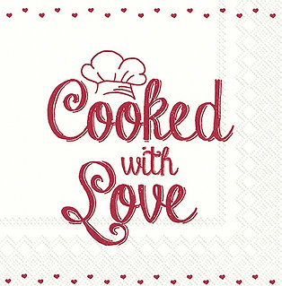 Serviette Cooked with Love
