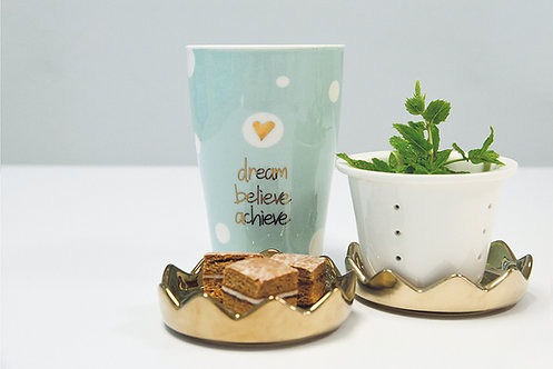 Teetasse «dream, belive, achieve»