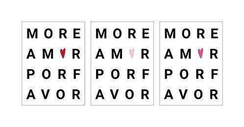 Poster «More Amor Por Favor»