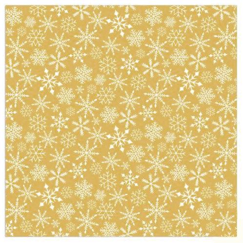 Serviette goldene Schneesterne