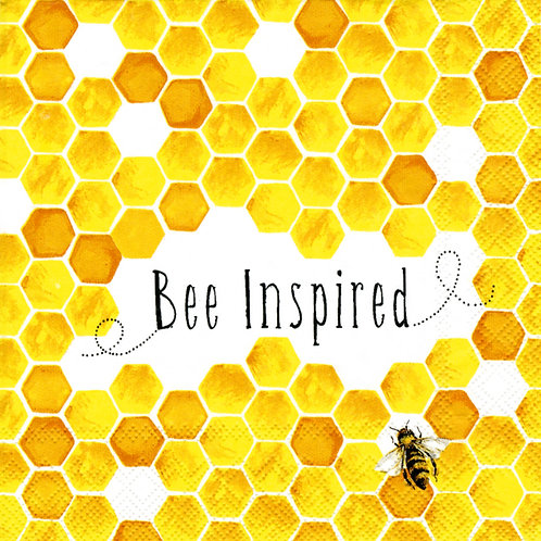 Cocktailserviette Bee Inspired