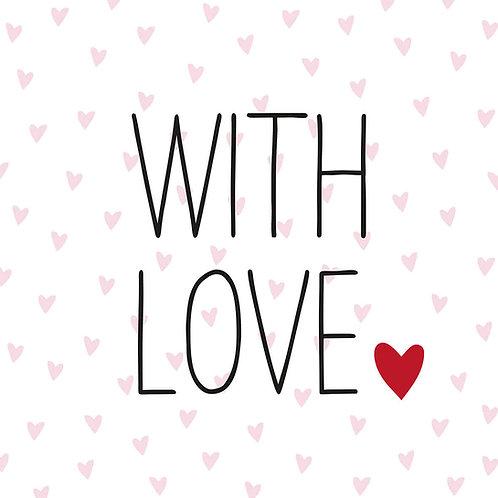 Serviette with love