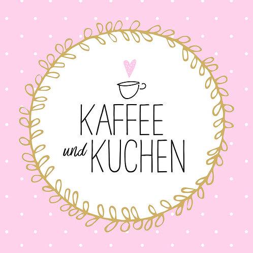 Serviette Kaffee und Kuchen