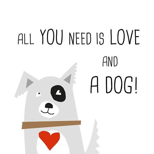 Serviette Love and Dog