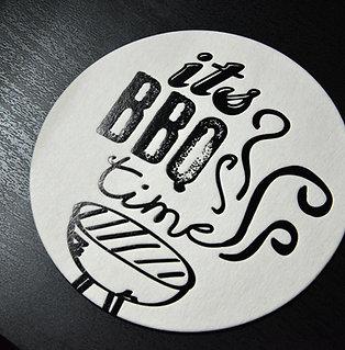 Glasuntersetzer BBQ time