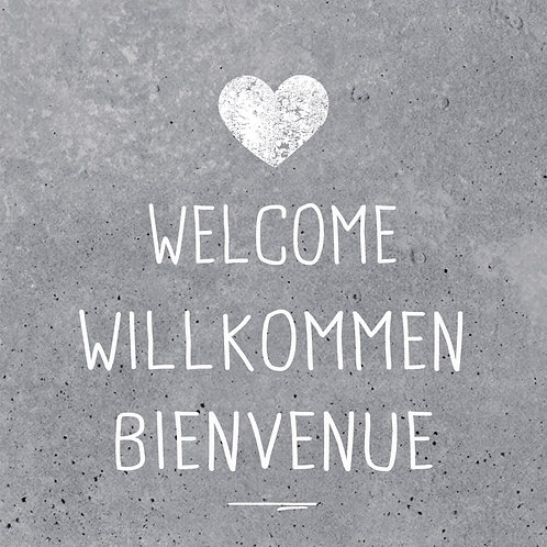 Serviette Welcome