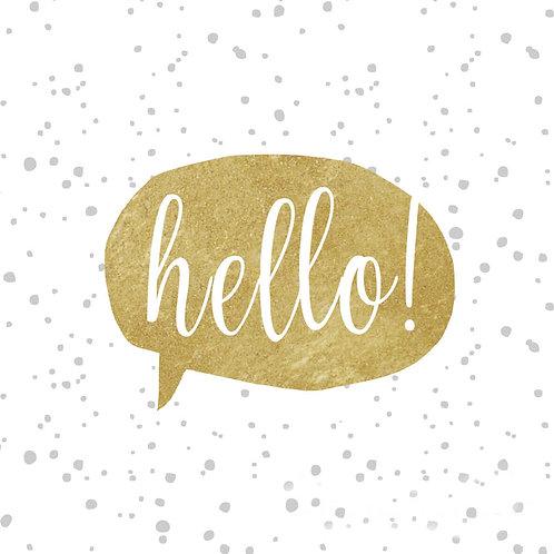 Serviette goldenes hello!