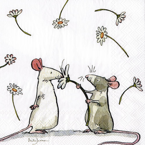 "Serviette ""A daisy for you"""