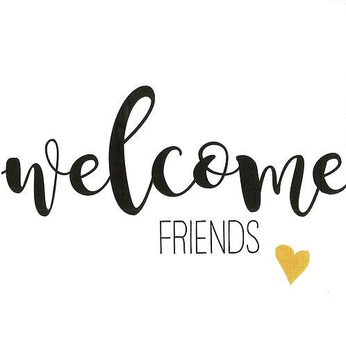 Serviette Welcome Friends