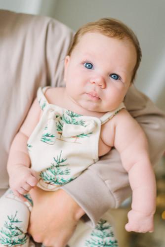 Organic baby Knotteralls Evergreen