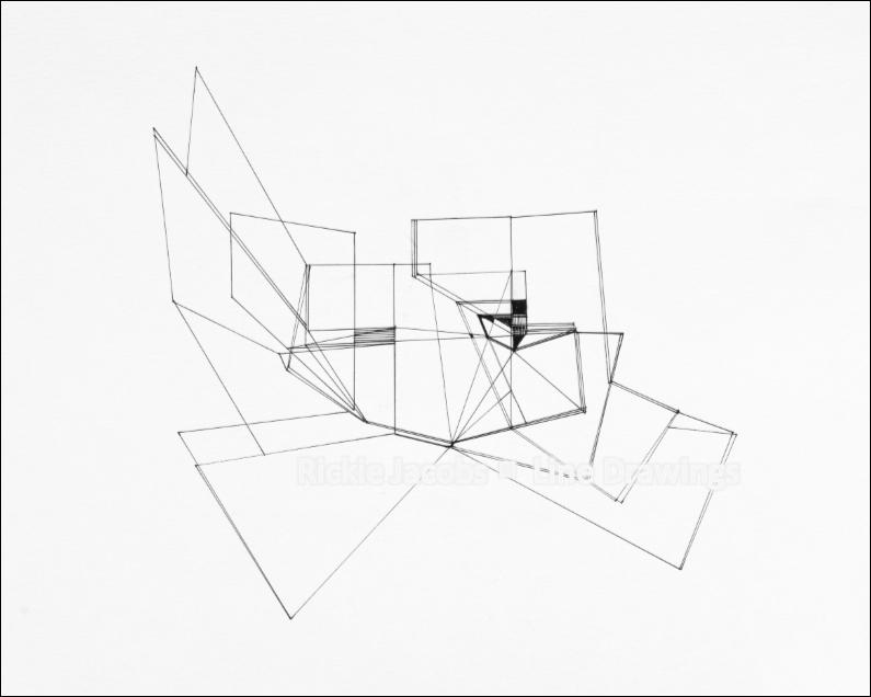 """Lines-01 (16.75x14"""")"""